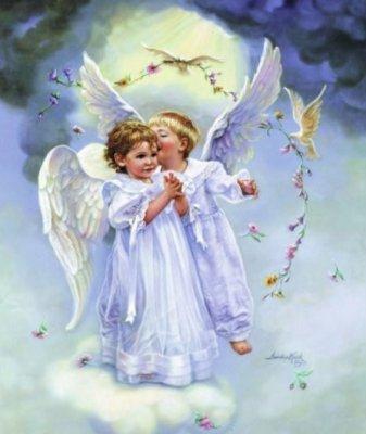imagenes de angeles de amor. Con Amor en mi corazón